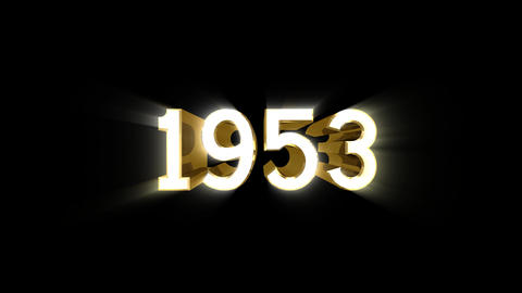 Year 1953 a HD Stock Video Footage