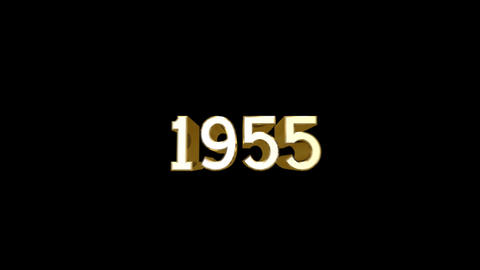 Year 1955 a HD Stock Video Footage