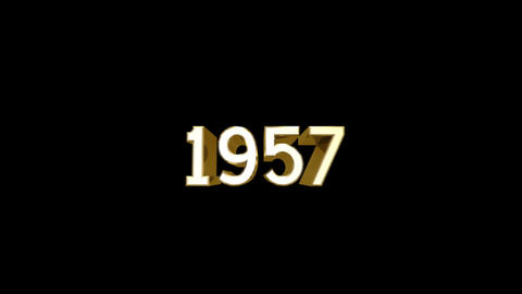 Year 1957 a HD Stock Video Footage