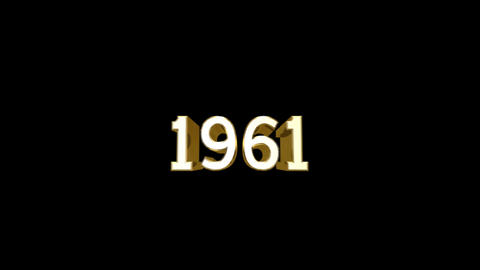 Year 1961 a HD Stock Video Footage