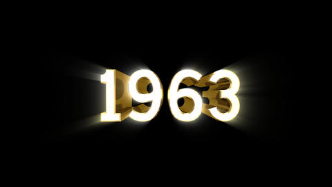 Year 1963 a HD Stock Video Footage
