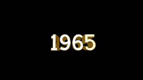Year 1965 a HD Stock Video Footage