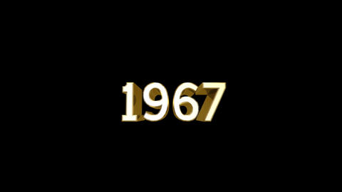 Year 1967 a HD Stock Video Footage