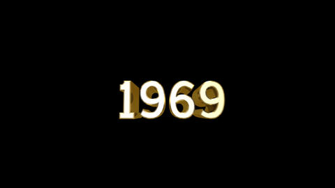 Year 1969 a HD Stock Video Footage