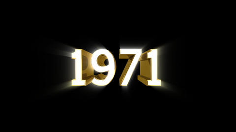 Year 1971 a HD Stock Video Footage