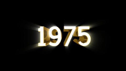 Year 1975 a HD Stock Video Footage