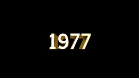 Year 1977 a HD Stock Video Footage