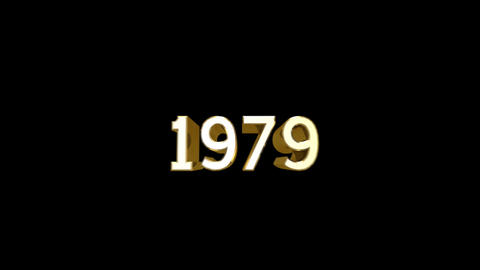 Year 1979 a HD Stock Video Footage