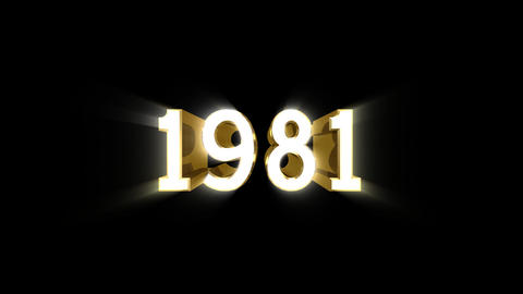 Year 1981 a HD Stock Video Footage