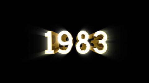 Year 1983 a HD Stock Video Footage