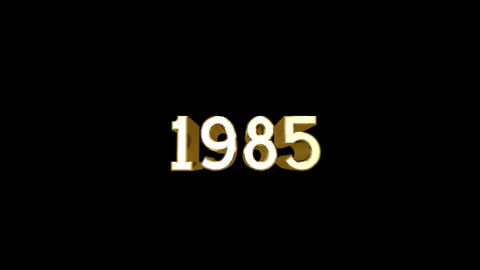 Year 1985 a HD Stock Video Footage