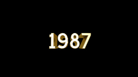 Year 1987 a HD Stock Video Footage