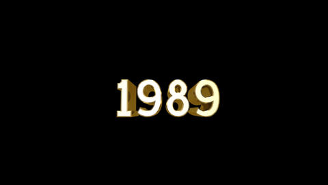 Year 1989 a HD Stock Video Footage
