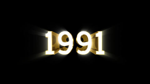 Year 1991 a HD Stock Video Footage
