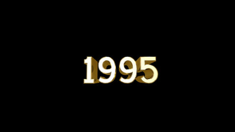 Year 1995 a HD Stock Video Footage