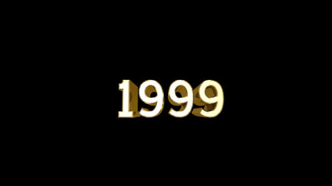 Year 1999 a HD Stock Video Footage