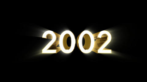 Year 2002 a HD Stock Video Footage