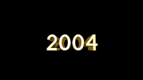 Year 2004 a HD Stock Video Footage