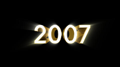 Year 2007 a HD Stock Video Footage