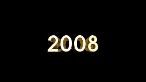Year 2008 a HD Stock Video Footage