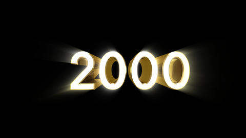 Year 2000 a HD Stock Video Footage