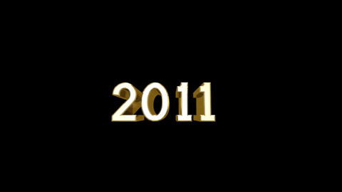 Year 2011 a HD Stock Video Footage