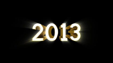Year 2013 a HD Stock Video Footage