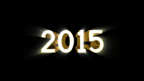 Year 2015 a HD Stock Video Footage