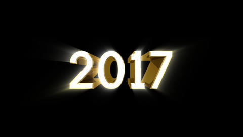 Year 2017 a HD Stock Video Footage