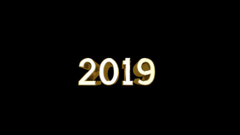 Year 2019 a HD Stock Video Footage
