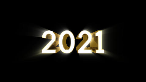 Year 2021 a HD Stock Video Footage