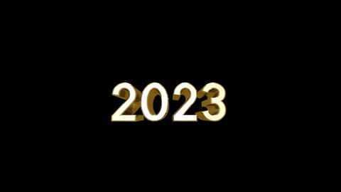 Year 2023 a HD Stock Video Footage
