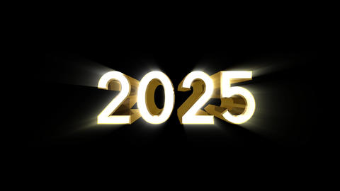 Year 2025 a HD Stock Video Footage