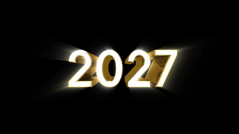 Year 2027 a HD Stock Video Footage