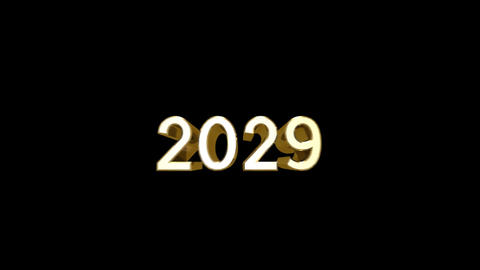 Year 2029 a HD Stock Video Footage
