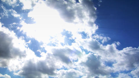 time lapse clouds with sun Stock Video Footage