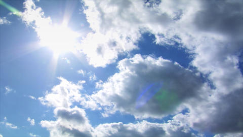 burning sun over high speed time lapse clouds Stock Video Footage