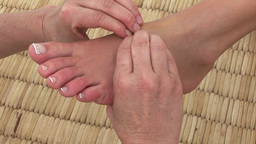 Close up of a professional foot massage Footage