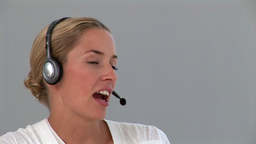 Portrait of a dynamic customer service agent Stock Video Footage