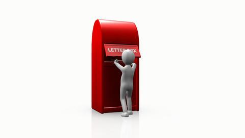 3D man sending a mail Animation