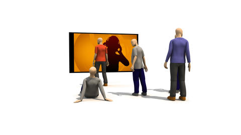 3D men enjoying music Animation