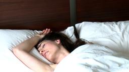 Bright brunette woman sleeping Stock Video Footage