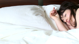 Radiant brunette woman sleeping Footage