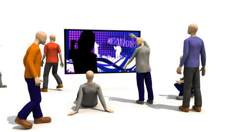 3D men presenting dancing concept Stock Video Footage