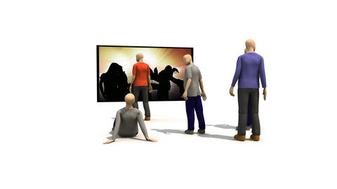 3D men presenting people dancing Animation
