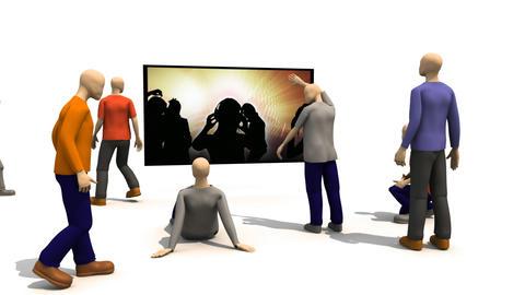 3D men presenting people dancing Stock Video Footage