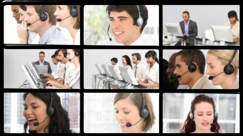 Presentation of customer agent team Animation