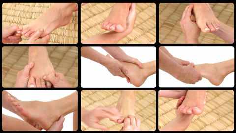 Animation presenting relaxing foot massages Footage
