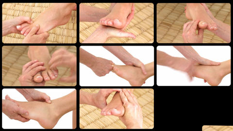 Animation presenting healthy foot massages Footage