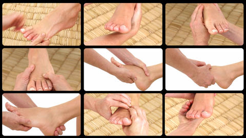 Animation presenting healthy foot massages Stock Video Footage